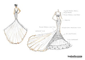 Sketch for Cece - Isabella Bridal